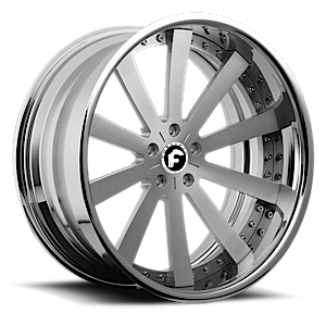 CONCAVO Satin Center, Chrome Lip 6 lug
