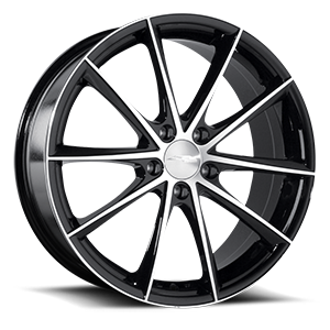 Convex Gloss Black Machined 5 lug