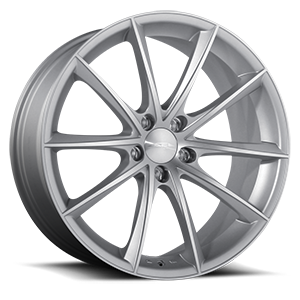 Convex Matte Silver Machine Face 5 lug