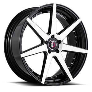 C47 Black Finish with Machine Face 5 lug