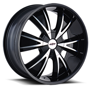 D38 Black Machined Face 4 lug