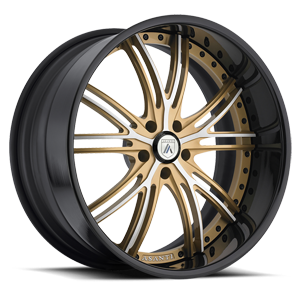 DA188 Gold with Black Lip 5 lug