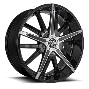 Diablo Wheels Dagger 5 Black w/ Chrome Inserts