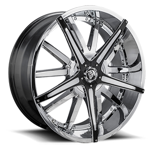 Diablo Wheels Dagger 5 Chrome w/ Black Inserts