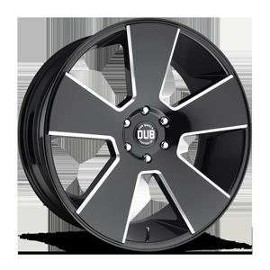 Del Grande - S230 Gloss Black & Milled 6 lug
