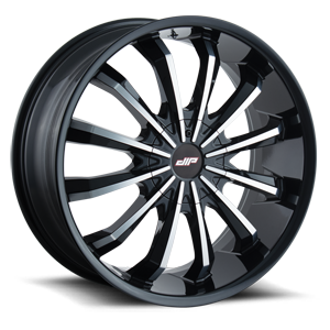 D40 Fusion Black with Machined Face 5 lug