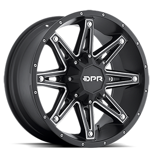 Gloc Black with Silver Trim 6 lug
