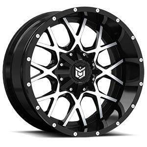 DS645 Gloss Black with Mirror Machined Face 5 lug