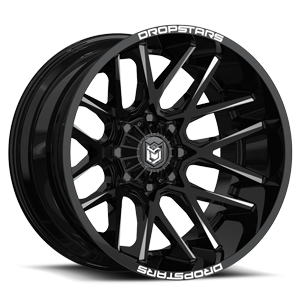 DS654 Gloss Black w/ CNC Milled Accents 6 lug