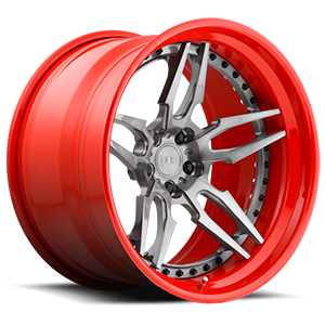 DUB Forged Attack 5 - XA40 5 Brushed DDT | Red Hoop