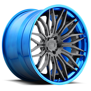 DUB Forged Cavat - XB40 5 Brushed Double Dark Tint | Hi Polish Pica-Blue