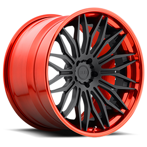 XB40 - Cavat Matte Black | Hi Polish Candy Red 5 lug