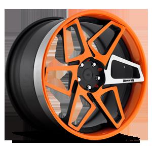 Game On - X80 Matte Black & Orange w/ Machined Spoke 5 lug