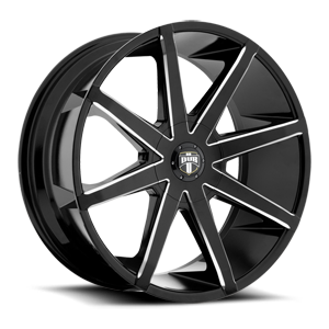 Push - S109 Gloss Black & Milled 26 5 lug