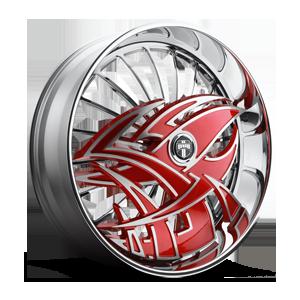 DUB Skirts S607-Razz 5 Red w/ chrome accents
