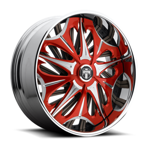 Spike - S715 Red w/ brushed accents 5 lug