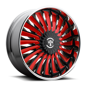 Turbine - S717 Black w/ red accents 5 lug