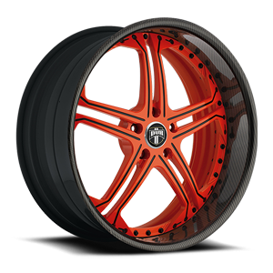 Whip - X10 Red w/ Black Accents, Carbon Fiber Outer 5 lug