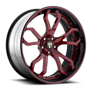 Shock Burgundy and Black Lip 5 lug
