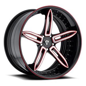 X-31 Black & machined w/ red accents 5 lug