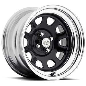Daytona (Series 022) Black/Chrome Rim 4 lug