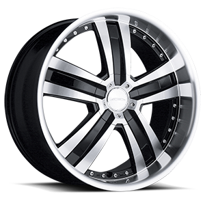 Deluxe Black with Machined Face 5 lug
