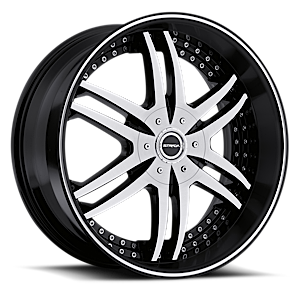 Strada Wheels Denaro 5 Black Machined
