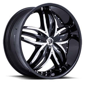 Diablo Wheels Angel 5 Black w/ Chrome Inserts
