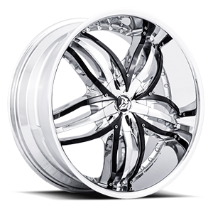 Diablo Wheels Angel 5 Chrome w/ Black Inserts