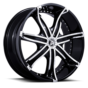 Diablo Wheels DNA 5 Black w/ Chrome Inserts