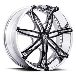 Diablo Wheels DNA 5 Chrome w/ Black Inserts