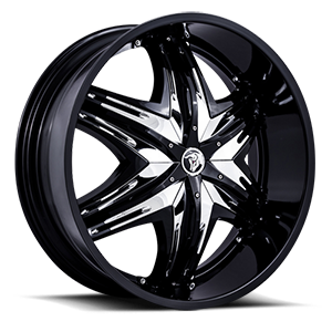 Diablo Wheels Elite G2 5 Black w/ Chrome Inserts