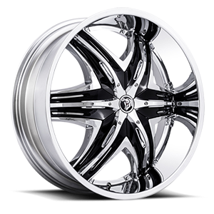 Diablo Wheels Elite G2 5 Chrome w/ Black Inserts