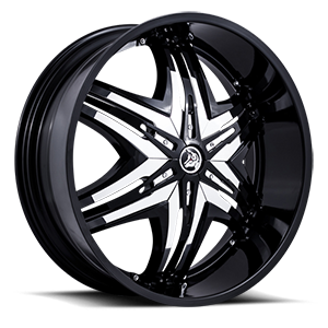 Diablo Wheels Elite 5 Black w/ Chrome Inserts