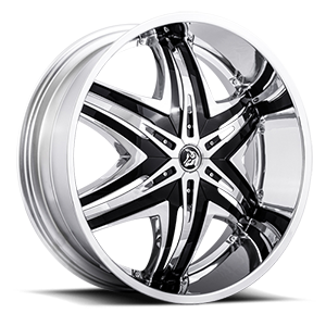 Diablo Wheels Elite 5 Chrome w/ Black Inserts