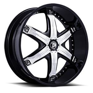 Diablo Wheels Fury 5 Black w/ Chrome Inserts
