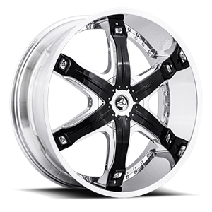 Diablo Wheels Fury 5 Chrome w/ Black Inserts