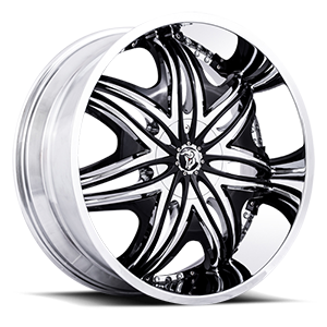 Diablo Wheels Morpheus 5 Chrome w/ Black Inserts