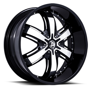 Diablo Wheels Razor 5 Black w/ Chrome Inserts
