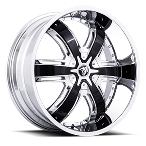 Diablo Wheels Razor 5 Chrome w/ Black Inserts