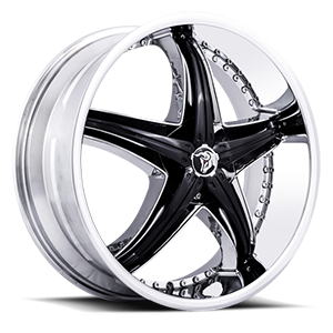 Diablo Wheels Reflection X 5 Chrome w/ Black Inserts