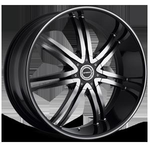 Strada Wheels Diablo 5 Black Machined
