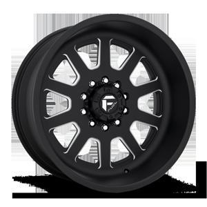 FF09D - 10 Lug Front Super Single Matte Black & Milled 10 lug
