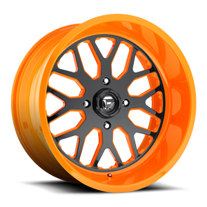 FF19 - UTV Gloss Black Face | Orange 4 lug