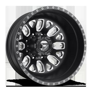 FF19D - Rear Matte Black & Milled 8 lug