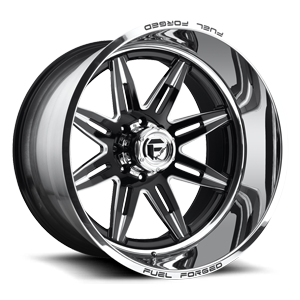 Fuel Forged Concave FFC26 | Concave 8 Black & Milled | Polished Lip
