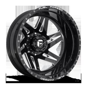 FF56D - Rear Gloss Black & Milled 8 lug