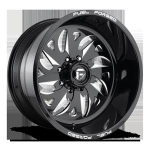 FF59 - 8 Lug Black & Milled 8 lug