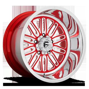 FF66 - 5 Lug Candy Red w/ Polish Lip 5 lug