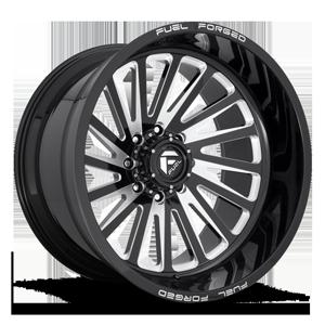 FFC16   Concave Gloss Black & Milled 8 lug